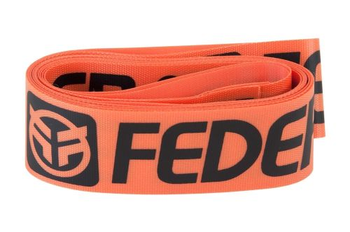 Federal XL Rim Tape (Pair) - Orange With Black Logo